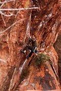 Rock Climbing Photo: Sam on Yaak Crack
