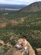Rock Climbing Photo: Great exposure at the top.