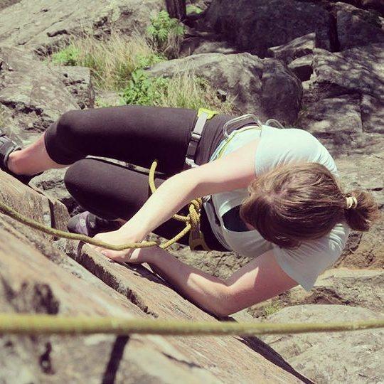 Rock Climbing Photo: The climb can be intense.