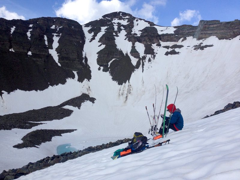 Rock Climbing Photo: north couloir of castle in the background