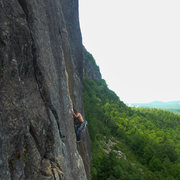 Rock Climbing Photo: An unknown climber cruising up the first pitch of ...