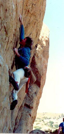 Rock Climbing Photo: Mike Guardino (AKA, Gargoyle) cranking into the cr...