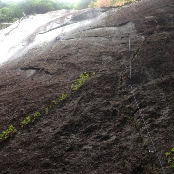 Rock Climbing Photo: Looking up at the first pitch form the start of th...