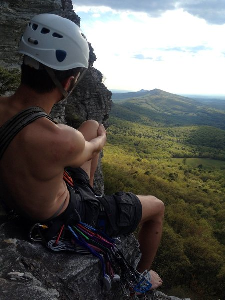 Climbing at Moore's Wall in North Carolina