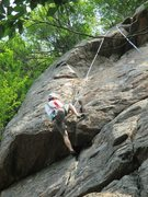 Rock Climbing Photo: The first of the two overhangs.