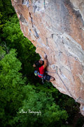 Middle of the second crux? <br /> <br />Photo by Adam Bove.