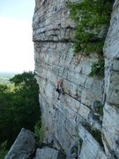 Rock Climbing Photo: Doubleissima free solo