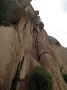 Rock Climbing Photo: Kevin on the easy part.