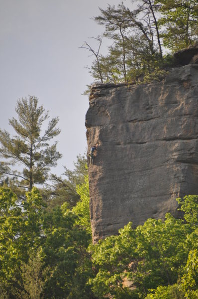 Rock Climbing Photo: Experiencing the exposer up on the arête