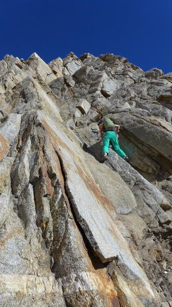 Rock Climbing Photo: Amy on one of the early class 4 sections