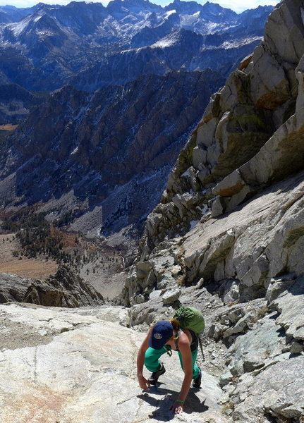 Rock Climbing Photo: easy scrambling before the gully