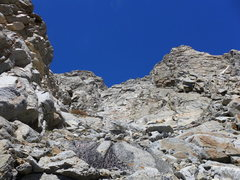 Rock Climbing Photo: Just below the point at which you'll cross left ov...