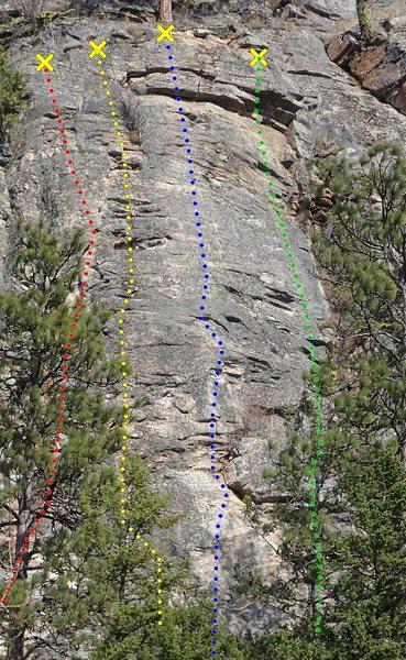 Rock Climbing Photo: Prog-Gnosis topo