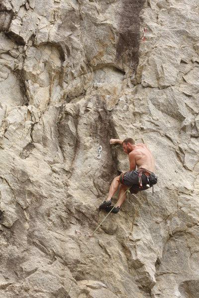 Rock Climbing Photo: Curtis Enjoying the moves