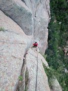 Rock Climbing Photo: Dave enjoying some splitter!