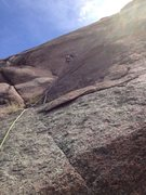 Rock Climbing Photo: In the crack near the bottom.