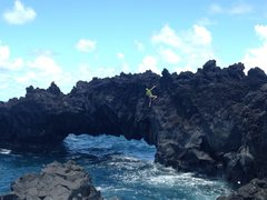 Rock Climbing Photo: DWS at wainapanapa