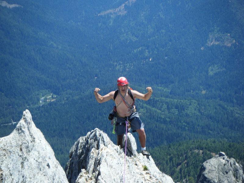 Rock Climbing Photo: Russ made it!