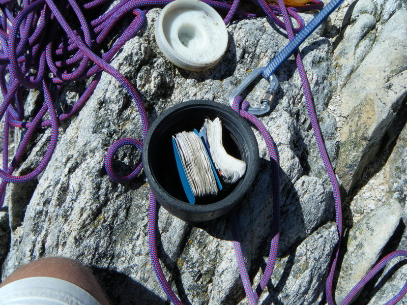 Rock Climbing Photo: time capsule top Mt. Hubris pretty cool