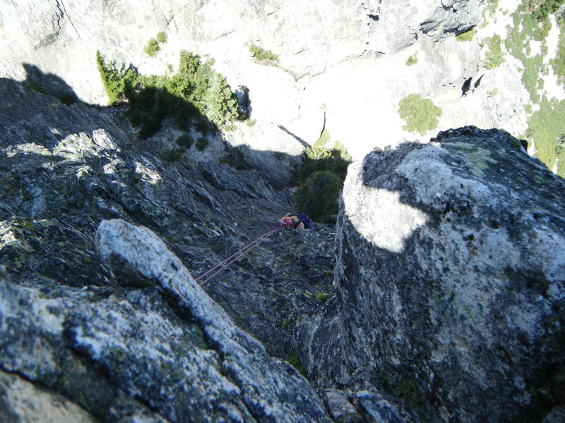 Rock Climbing Photo: first repel