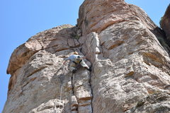 Rock Climbing Photo: Solid jams on this route.