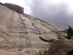 Rock Climbing Photo: In the middle of the top rope.