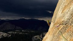 Rock Climbing Photo: nothing like running from a storm to help set the ...