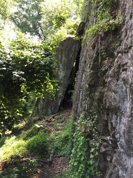 This is the main wall right below the tower.