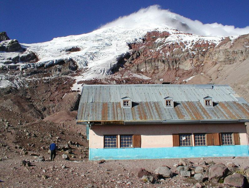 The Whymper Hut on Chimborazo, Ecuador.