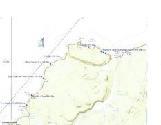 Rock Climbing Photo: Beta Map 2 of this area: this is the eastern very ...