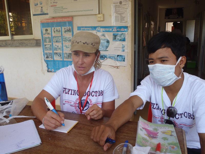 Medical mission Cambodia near Thai border