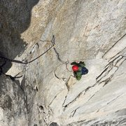 Rock Climbing Photo: Looking down from just past the crux gives you a t...
