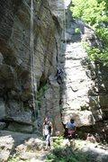 Rock Climbing Photo: Working up Tarzan!