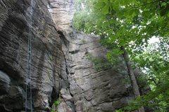 Rock Climbing Photo: Big swings on Tarzan.