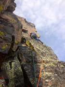 Rock Climbing Photo: Looking for the Ledge of Glory.