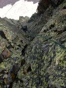 Rock Climbing Photo: Ben on P5.