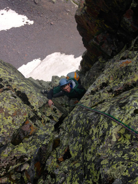 Rock Climbing Photo: Finishing P5 - how does this exit work?