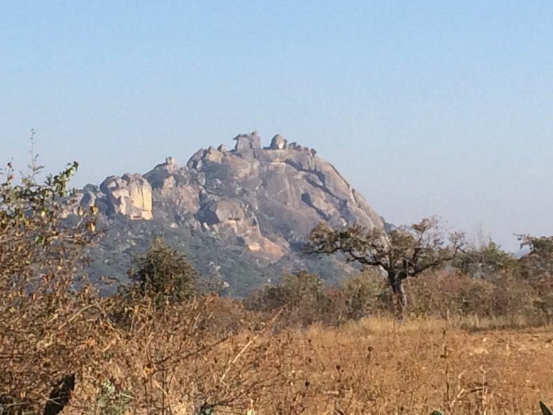 Nyambe mountain from a distance