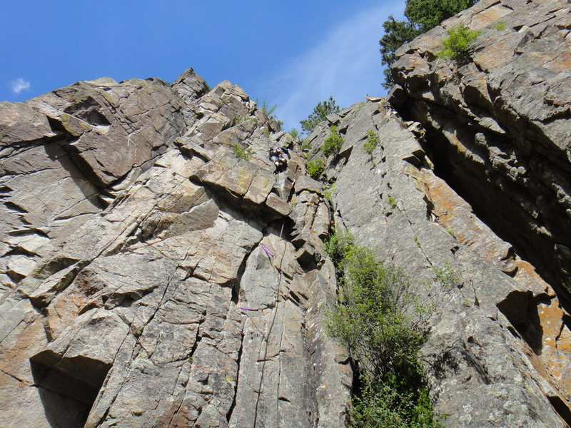 Rock Climbing Photo: About halfway up Roller Skates.  Photo: Mark Hudso...