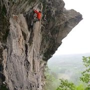 Rock Climbing Photo: Sending on a rainy and cold June day!