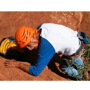 Rock Climbing Photo: On 7/8/15 I took Peter Gersten, age 73, up this ro...