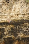 Rock Climbing Photo: The potentially heartbreaking final roof pull. Thi...