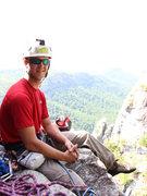 Rock Climbing Photo: This is the belay ledge at the top of the second p...