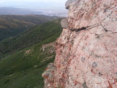 Rock Climbing Photo: Looking towards Bountiful along a southwest headin...