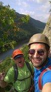 Rock Climbing Photo: Will Roth led me up this beautiful crack climb rou...