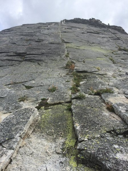 Rock Climbing Photo: The first pitch of Deception. Be sure to read up o...