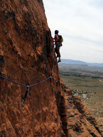 Rock Climbing Photo: snow canyon