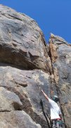 Rock Climbing Photo: Can you see the first bolt????