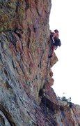 Rock Climbing Photo: Pulling the crux.