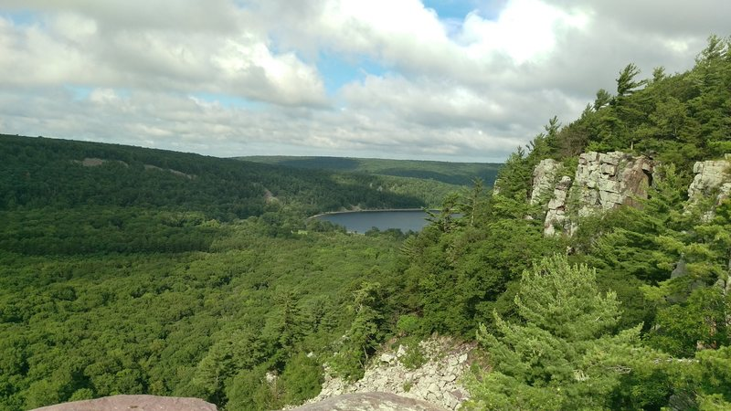 Rock Climbing Photo: View from the top of Brinton's Buttress - Mid July...